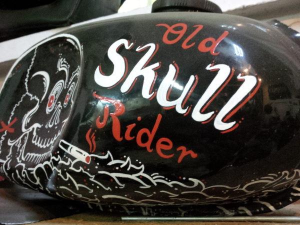 Old skull rider